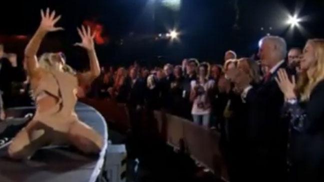 Lady Gaga Bill Clinton Screengrab - H
