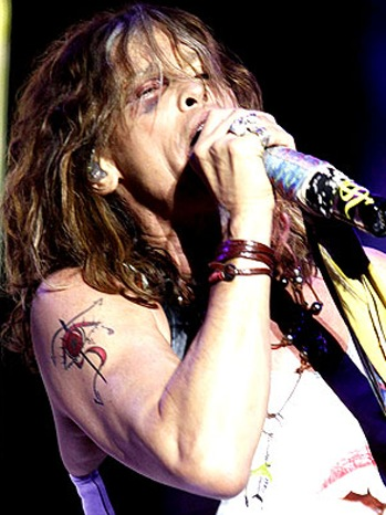 Steven Tyler - with black eye, during Oct. 26 Aerosmith concert in Asuncion, Paraguay - P - 2011