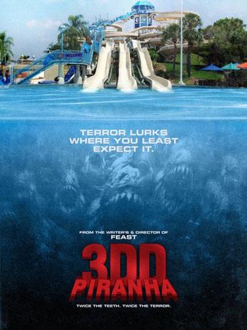 Piranha 3DD Poster Art - P 2011