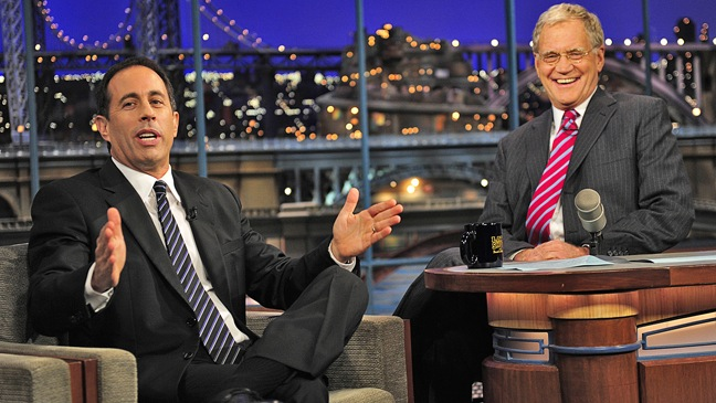 Jerry Seinfeld - TV Still: David Letterman - H - 2011