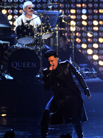 Adam Lambert and Queen at MTV EMAs