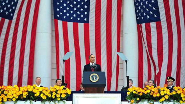 Barrack Obama Veteran's Day Arlington National Cemetary - H 2011