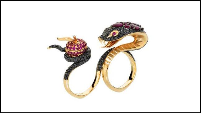 Cobra Snake Gold Ring - H 2011