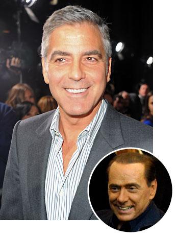 George Clooney Silvio Berlusconi - P 2011