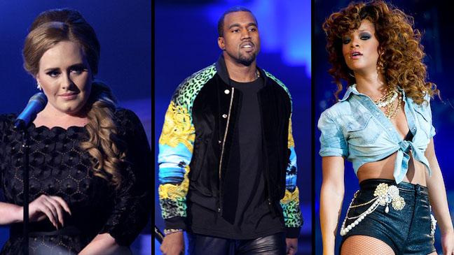 Grammy Nominees Kanye, Adele Rihanna