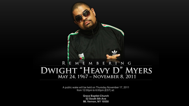Heavy D memorial site L