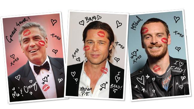 44 BIZ Hunks George Clooney Brad Pitt Michael Fassbender H