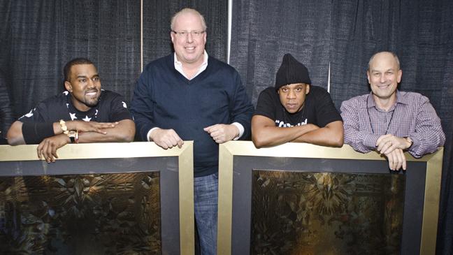 Kanye West Jay Z platinum plaque L