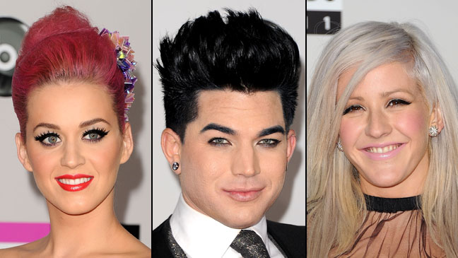 Katy Perry Adam Lambert Ellie Goulding AMA Hair - H 2011