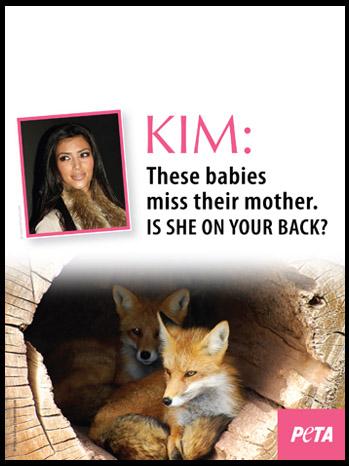 Kim Kardashian PETA Fur Ad - P 2011