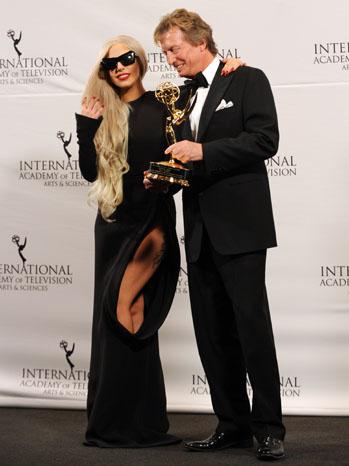 Lady Gaga Nigel Lythgoe International Emmy - P 2011