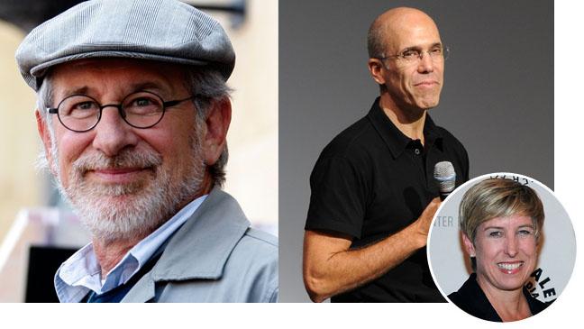 Steven Spielberg, Jeffrey Katzenberg, Wendy Greuel - SPLIT - H