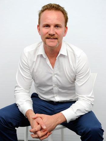 Morgan Spurlock Mustache Portrait - P 2011