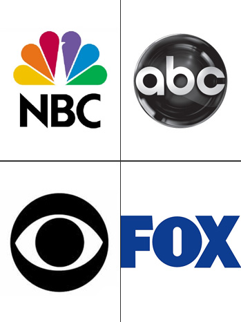 NBC ABC CBS FOX Logo Split - P 2011