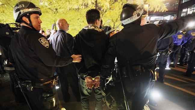 Occupy Wall Street Zuccotti Park Arrest - H 2011