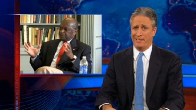 Jon Stewart Herman Cain Daily Show Still 2011