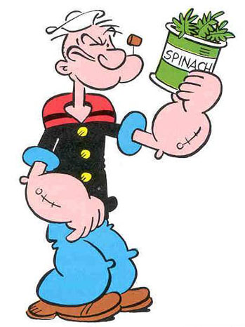 Popeye Cartoon Art Spinach - P 2011
