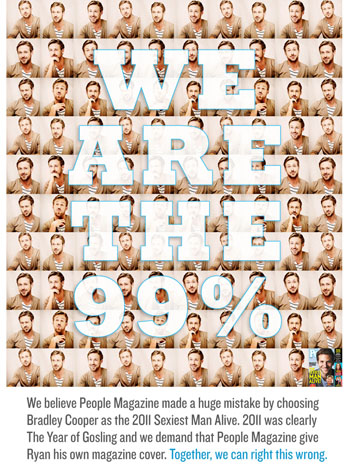 Ryan Gosling We Are The 99% Poster - P 2011
