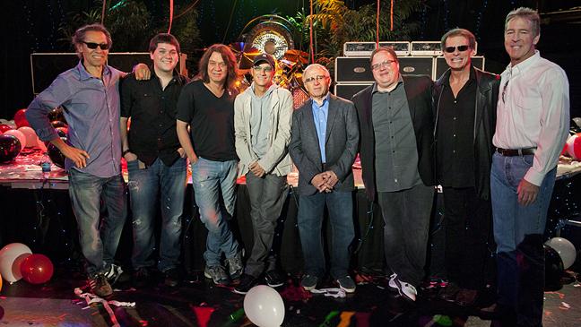 Van Halen with IAG execs 2011