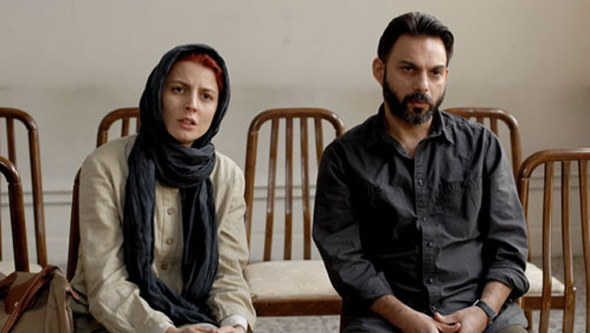 A Separation film still man woman in chairs - H