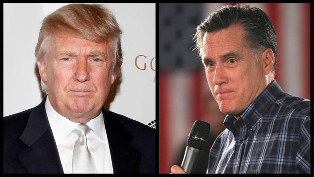 Donald Trump Mitt Romney Split - H 2011