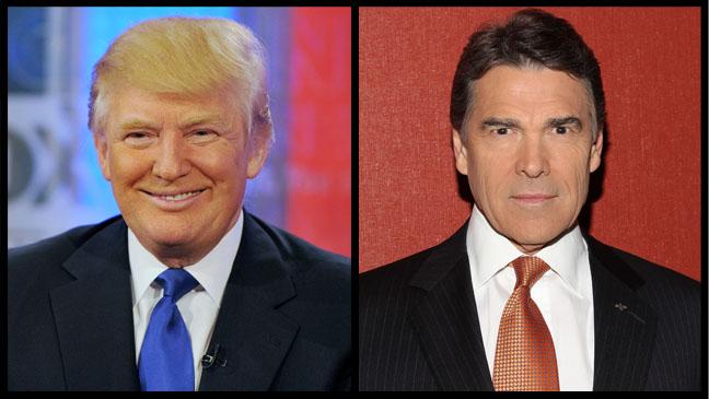 Donald Trump Rick Perry Split - H 2011