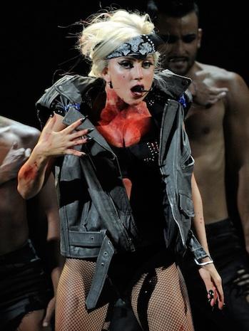 Lady Gaga Performance Blood P 2011