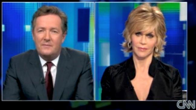 Jane Fonda Piers Morgan Tonight 2011