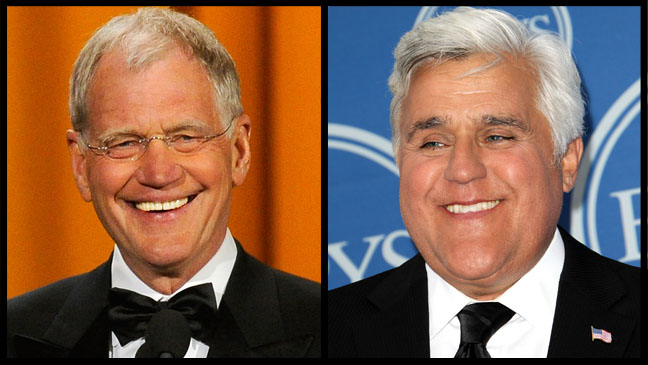 David Letterman Jay Leno Split - H 2011