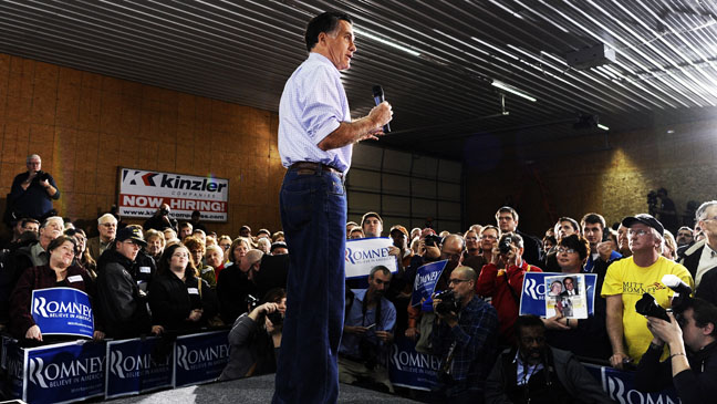 Mitt Romney Ames Iowa - H 2011