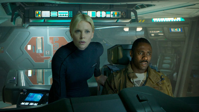 Prometheus Charlize Theron Idris Elba Ship Still - H 2011
