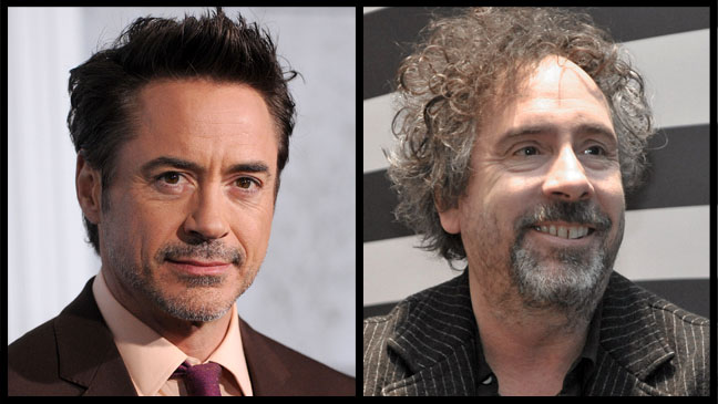 Robert Downey Jr. Tim Burton Split - H 2011