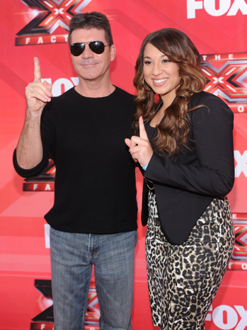 Simon Cowell Melanie Amaro press conference P