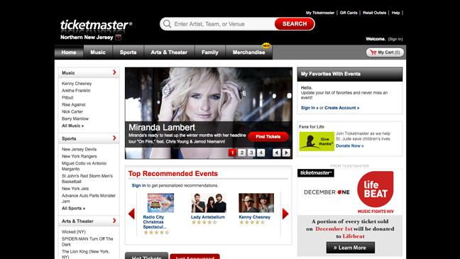 Ticketmaster - Screengrab - H 2011