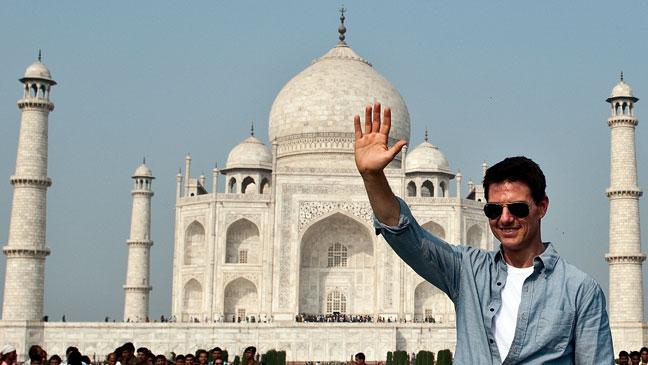 Tom Cruise Waving Taj Majal