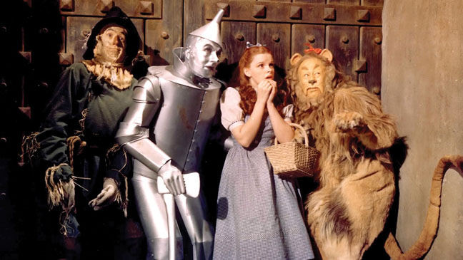 The Scarecrow, Tin Man, Dorothy and the Cowardly Lion