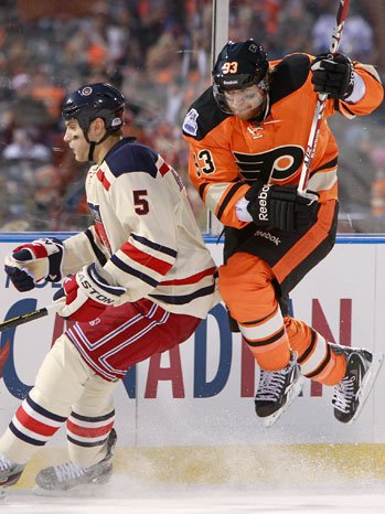 2012 NHL Winter Classic Action Shot - P