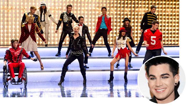 Adam Lambert Glee Episodic Bubble Split - H 2012