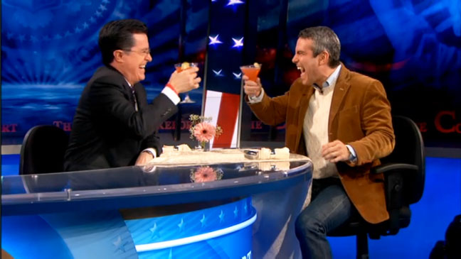 Stephen Colbert Andy Cohen Screen Shot - H 2012