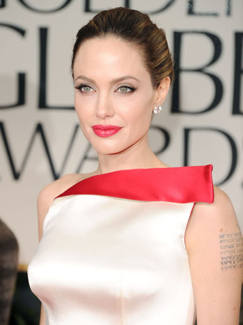 69th Golden Globes Angelina Jolie Red Carpet Red Carpet Headshot - P 2012
