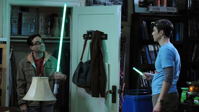 The Big Bang Theory Leonard Sheldon Lightsaber - H 2012