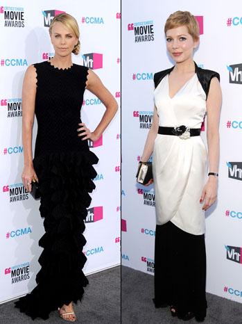 Charlize Theron Michelle Williams Critics' Choice Awards - P 2012