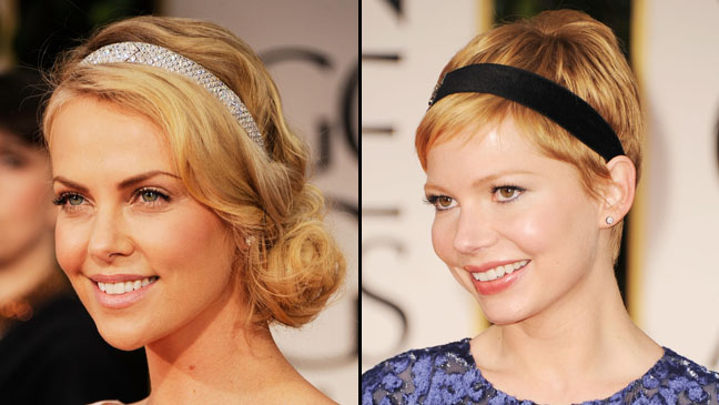 69th Golden Globes Charlize Theron Michelle Williams Split - H 2012
