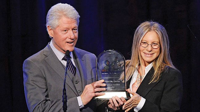 2012-04 BIZ SOPA Bill Clinton Barbra Streisand H