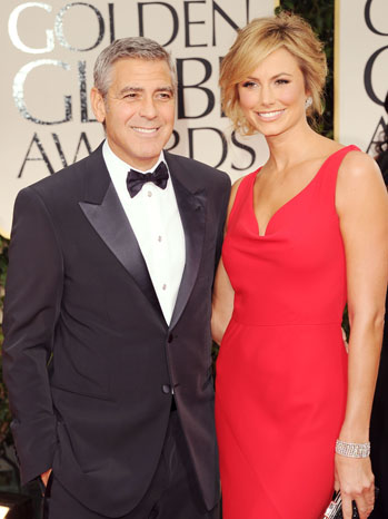69th Golden Globes George Clooney Stacey Red Carpet - P 2012