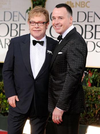 Golden Globes David Furnish Elton John Red Carpet - P 2012