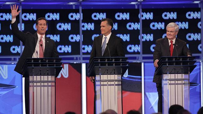 GOP debate Gingrich Romney Jan 19
