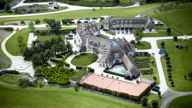 Kim Dotcom New Zealand Mansion - H 2012