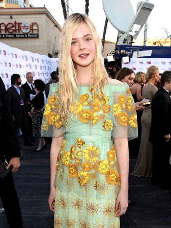Elle Fanning Rodarte Critics' Choice Movie Awards - P 2012