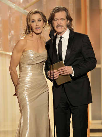 Golden Globes Felicity Huffman William H. Macy - P 2012